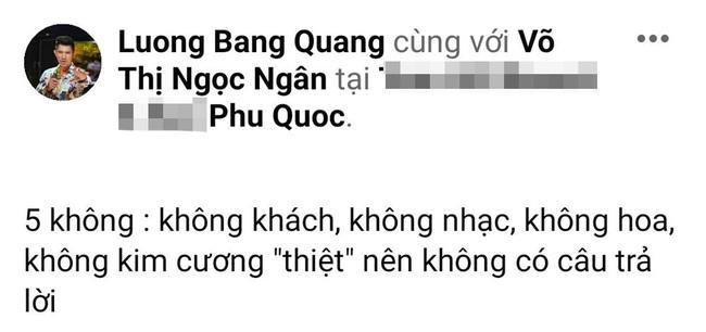 Cầu hôn Ngân 98 bất thành, Lương Bằng Quang công khai lý do bị từ chối, lý do vì món đồ giả? - Ảnh 1.