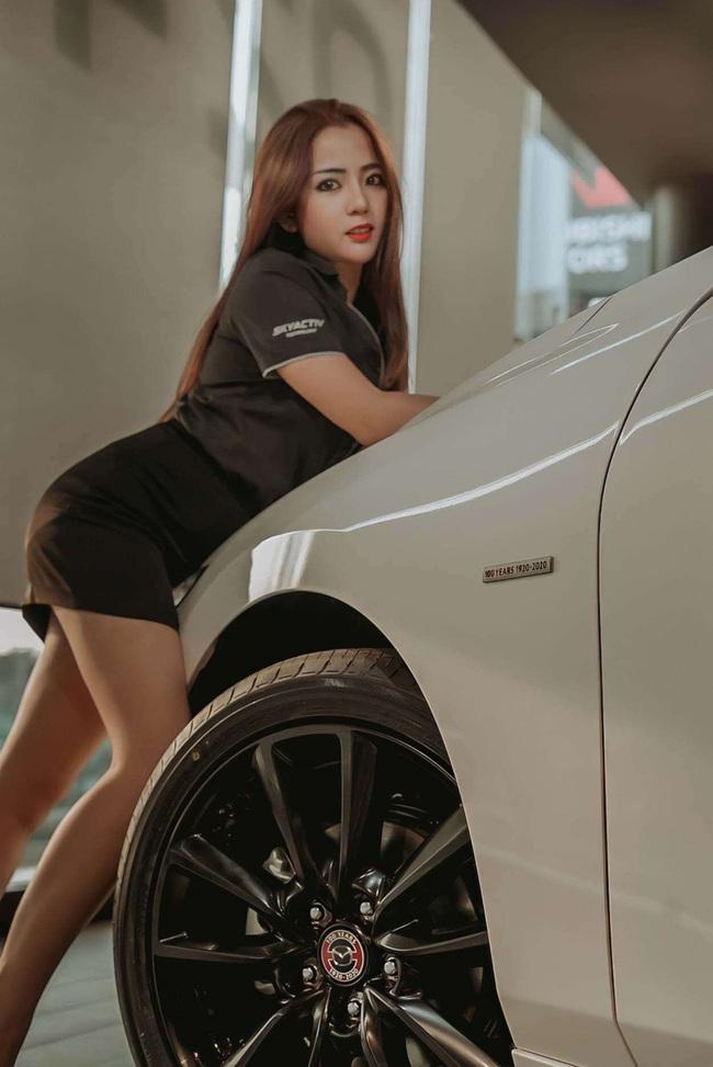 Người đẹp Thái Lan tạo dáng siêu quyến rũ bên xế hộp Mazda - Ảnh 3.