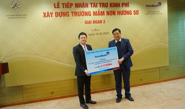 """VietinBank tài trợ xây trường mầm non thuộc dự án """"di dân lịch sử"""" ở Huế    - Ảnh 1."""