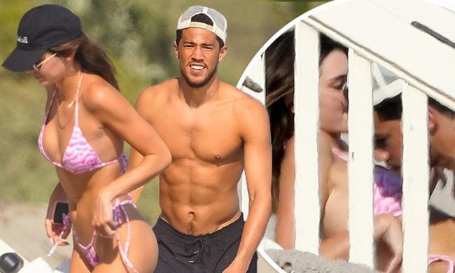 Kendall Jenner và bạn trai thân mật.