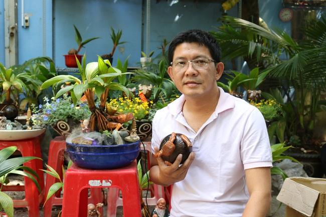 Độc đáo bonsai dừa có hình trâu đón Tết Tân Sửu 2021 tại TP.HCM - Ảnh 7.