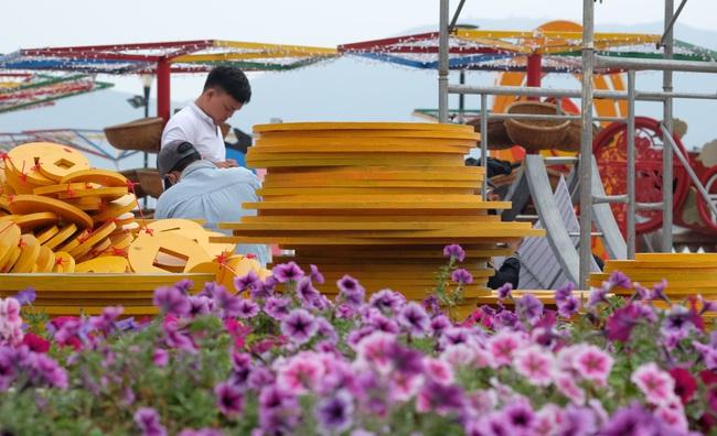 Cận cảnh đường hoa phục vụ Tết Nguyên đán hơn 10 tỷ đồng tại Đà Nẵng - Ảnh 1.