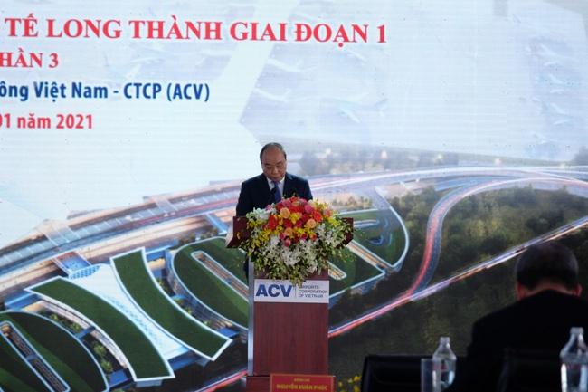 """Toàn bộ hình ảnh Thủ tướng Nguyễn Xuân Phúc """"bấm nút"""" khởi công xây dựng sân bay Long Thành - Ảnh 6."""