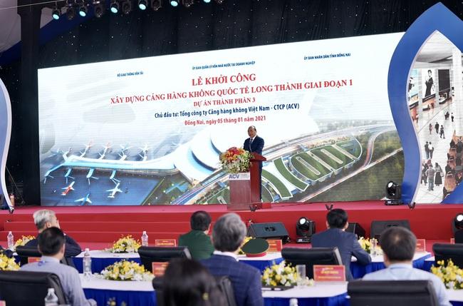 """Toàn bộ hình ảnh Thủ tướng Nguyễn Xuân Phúc """"bấm nút"""" khởi công xây dựng sân bay Long Thành - Ảnh 8."""