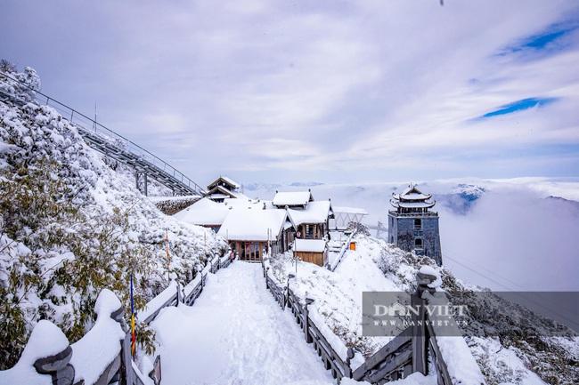 Du khách đổ xô lên Fansipan ngắm tuyết ngày 29 Tết Tân Sửu 2021 - Ảnh 5.