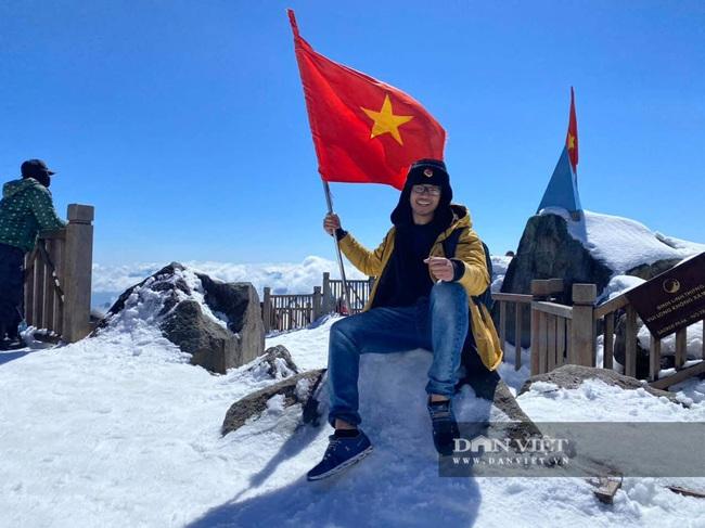 Du khách đổ xô lên Fansipan ngắm tuyết ngày 29 Tết Tân Sửu 2021 - Ảnh 7.