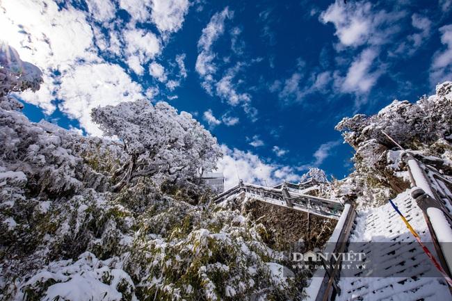 Du khách đổ xô lên Fansipan ngắm tuyết ngày 29 Tết Tân Sửu 2021 - Ảnh 8.