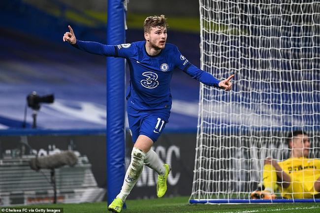 """Chelsea vào top 4 Premier League, HLV Tuchel hết lời khen """"chân gỗ"""" Werner - Ảnh 1."""