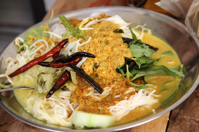 Kanom jeen - món mỳ lên mên đặc sắc nét văn hóa truyền thống của người Thái Lan - Ảnh 2.
