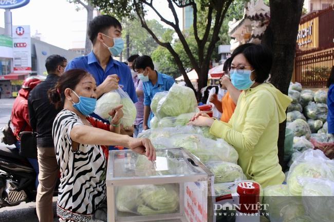 """Người Sài Gòn ùn ùn """"giải cứu"""" nông sản, 10 tấn bắp cải, 5 tấn bưởi hết trong tích tắc - Ảnh 1."""