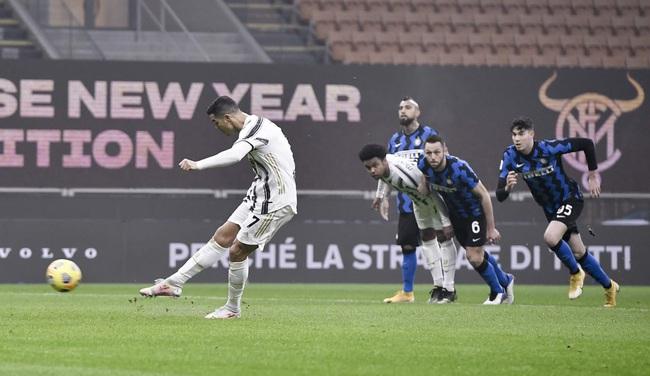 Ronaldo lập cú đúp, Juve chiếm lợi thế trước Inter tại Coppa Italia - Ảnh 1.