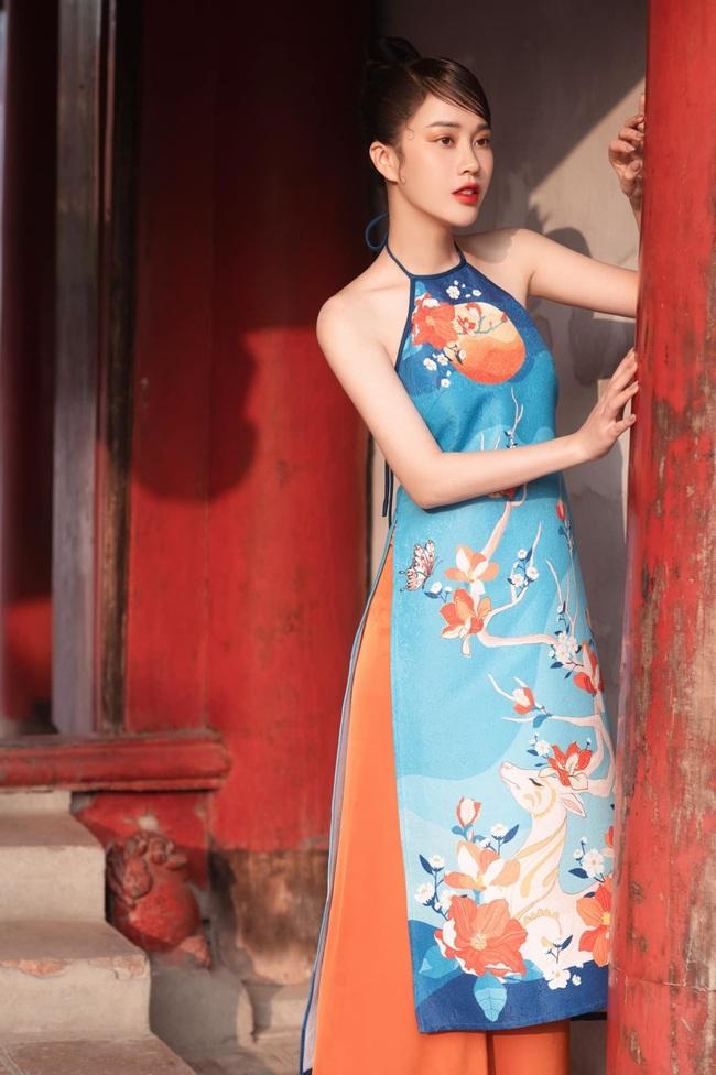 MC VTV Ngô Mai Phương tung bộ ảnh diện áo yếm gợi cảm đón Tết 2021 - Ảnh 7.