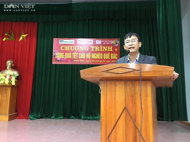 Quỹ Thiện Tâm và Báo NTNN/Dân Việt mang Tết đến cho người nghèo huyện Nam Đàn   - Ảnh 1.