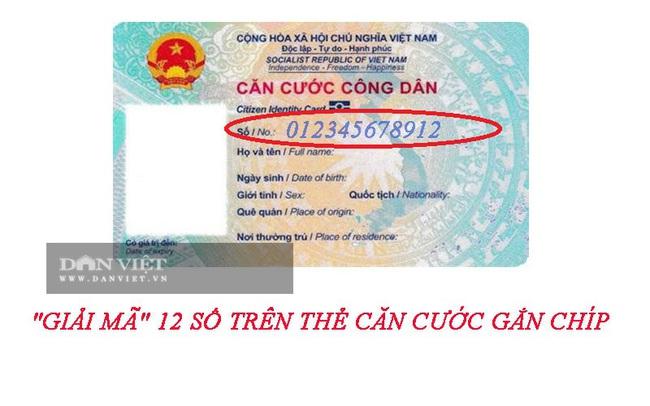 """""""Giải mã"""" 12 số trên thẻ Căn cước gắn chíp điện tử - Ảnh 1."""
