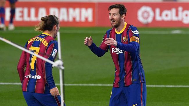 Messi và Griezmann đang ngày càng ăn ý.