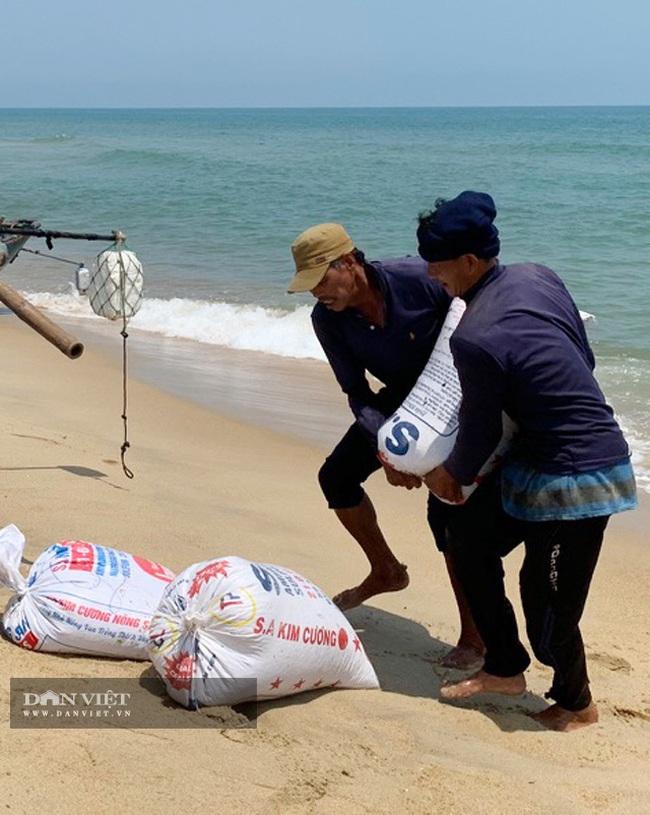 Quảng Ngãi: Sắm vợt sắt khủng dài hơn 8m đi cào ốc bé tẹo, ngư dân kiếm vài triệu/ngày   - Ảnh 8.