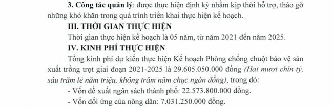 Vụ kế hoạch diệt chuột ở Cần Thơ chi gần 30 tỷ đồng: Vì sao Hậu Giang không chi tỷ đồng nào? - Ảnh 3.