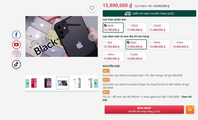 iPhone 11 giảm giá mạnh nhất từ trước đến nay - Ảnh 1.