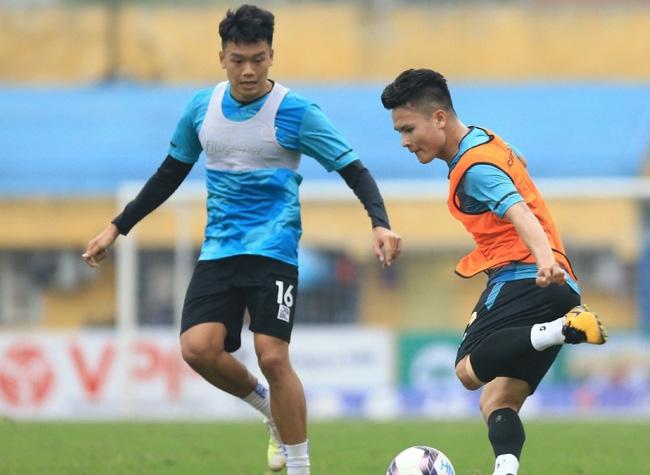 Quang Hải đã trở lại tập luyện bình thường.