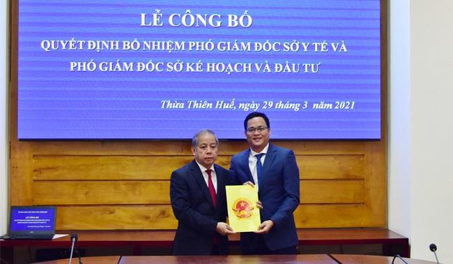 TT-Huế: Công bố quyết định bổ nhiệm Phó Giám đốc Sở KHĐT và Sở Y tế - Ảnh 1.