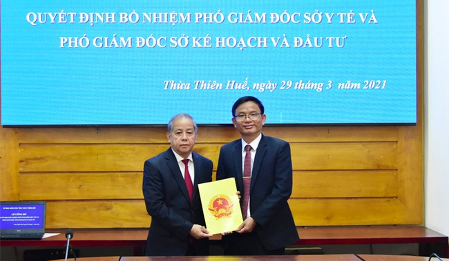 TT-Huế: Công bố quyết định bổ nhiệm Phó Giám đốc Sở KHĐT và Sở Y tế - Ảnh 2.