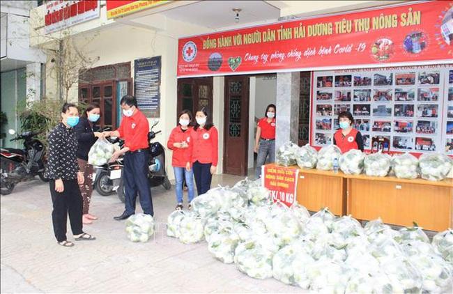 Người dân Ninh Bình tiêu thụ nông dân cho nông dân Hải Dương - Ảnh 1.