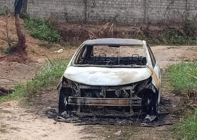 Quảng Ninh: Điều tra vụ chém người nhập viện, đốt xe ô tô cháy rụi - Ảnh 1.