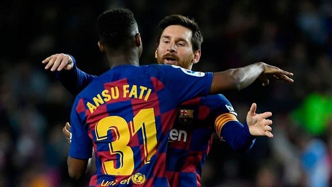Ansu Fati đã chơi ăn ý với Messi trước khi dính chấn thương.