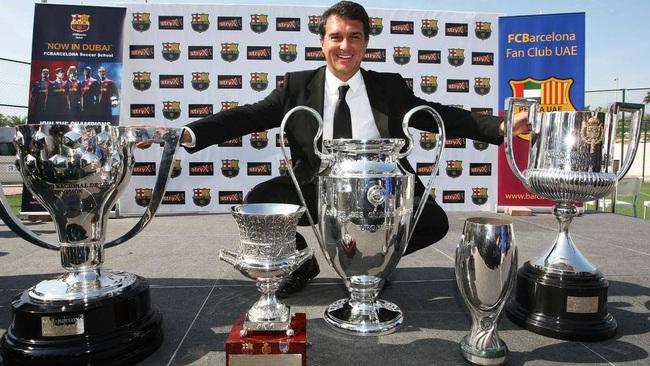 Joan Laporta từng nhiều lần giúp Barcelona thống trị La Liga và châu Âu.