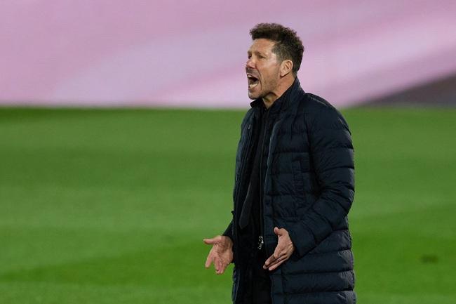 HLV Simeone thất vọng với kết quả hòa.