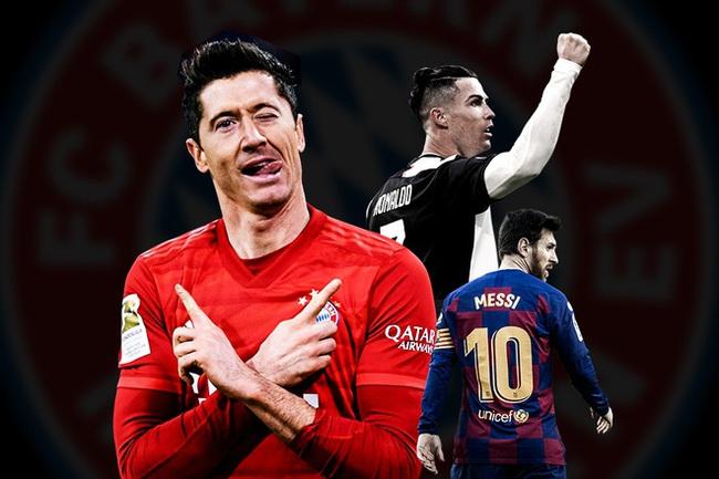 """Đua chiếc giày vàng châu Âu 2020/21: Ronaldo, Messi """"hít khói"""" Lewy - Ảnh 1."""