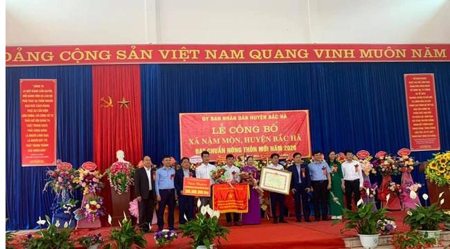 Lào Cai: Xã Nậm Mòn đạt chuẩn nông thôn mới - Ảnh 1.