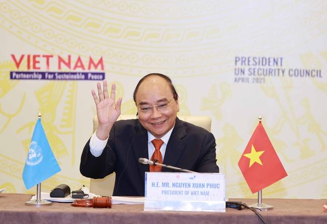 Chủ tịch Nước Nguyễn Xuân Phúc chủ trì phiên thảo luận mở cấp cao HĐBA LHQ - Ảnh 1.