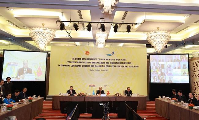 Chủ tịch Nước Nguyễn Xuân Phúc chủ trì phiên thảo luận mở cấp cao HĐBA LHQ - Ảnh 4.
