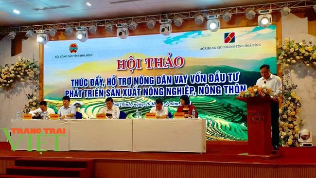 Hội Nông dân Hòa Bình: Tổ chức hội thảo hỗ trợ nông dân vay vốn, phát triển sản xuất - Ảnh 1.