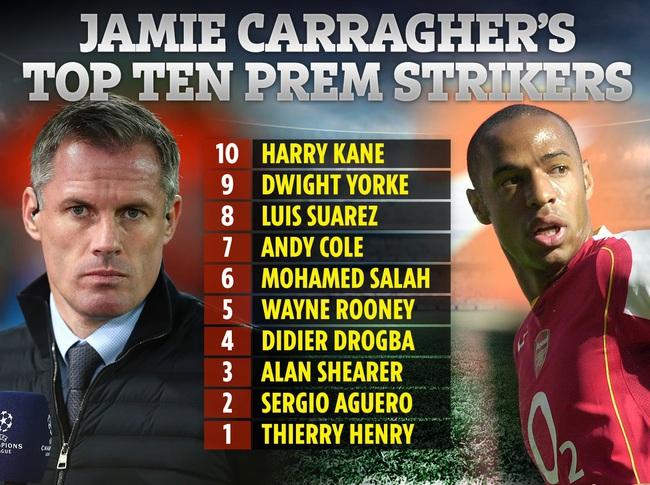 Jamie Carragher chọn Henry xuất sắc nhất.