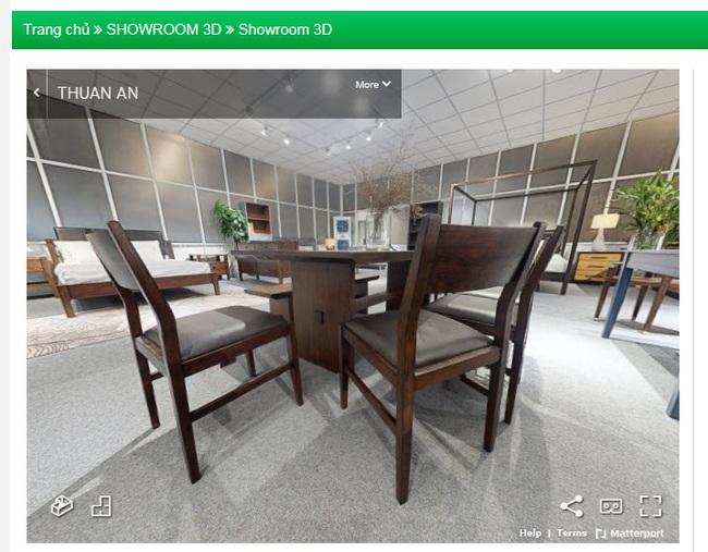 Showroom trực tuyến giới thiệu sản phẩm gỗ nội thất của công ty gỗ Thuận An