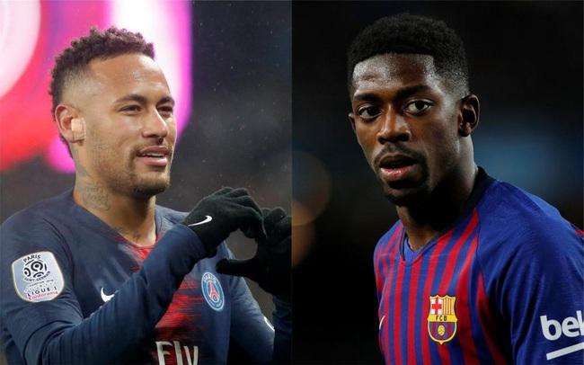 Neymar và Dembele có thể hoán đổi vị trí.