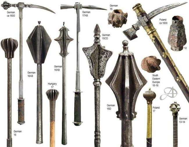 Vì sao chùy là vũ khí đáng sợ nhất châu Âu Trung cổ? - Ảnh 1.