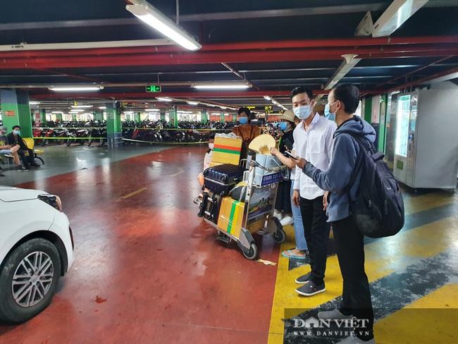Ô tô nối đuôi, khách kéo hành lý ra khỏi sân bay Tân Sơn Nhất sau lễ - Ảnh 7.