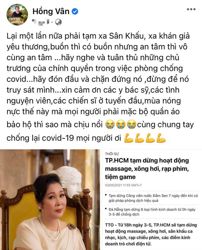 """NSND Hồng Vân, Ngô Thanh Vân nói gì khi sân khấu kịch đóng cửa, """"Trạng Tí"""" ngừng chiếu? - Ảnh 1."""