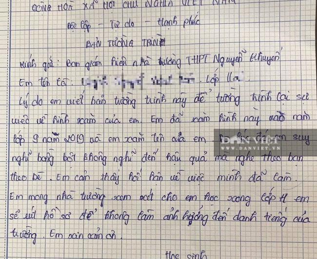 Vụ nữ sinh xăm hình bị đuổi học ở Đồng Nai: Báo chí đăng tin không chính xác? - Ảnh 1.