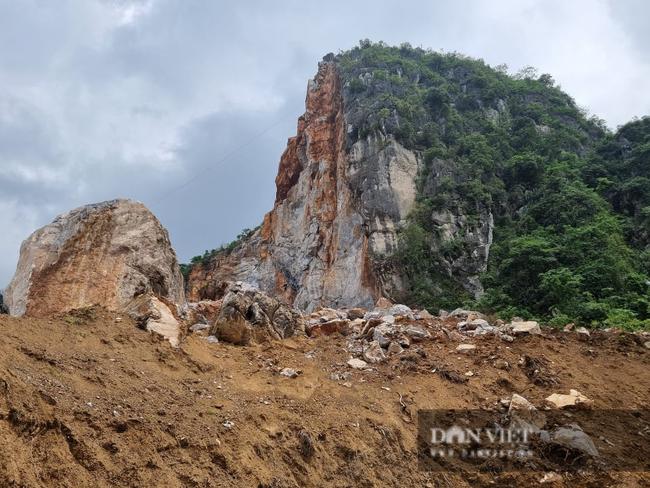 Thái Nguyên: Sạt lở mỏ đá Lân Đăm 3, di dời khẩn cấp 4 hộ dân ngay trong đêm - Ảnh 1.
