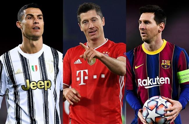 Chiếc giày Vàng châu Âu 2020/21: Ronaldo và Messi chào thua Lewy - Ảnh 1.