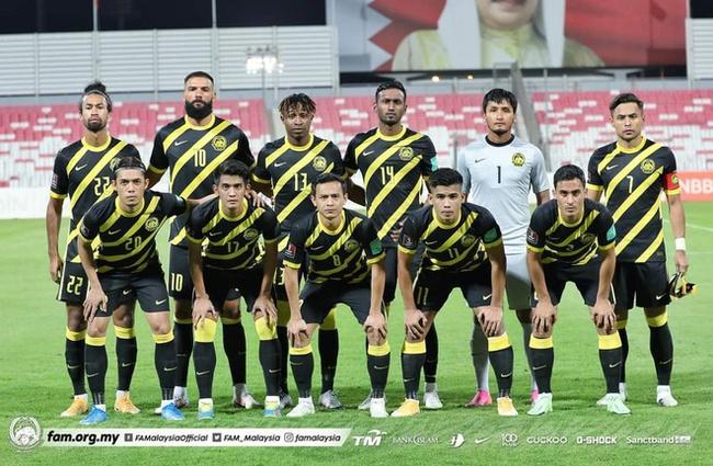 Đội hình Malaysia đá với Bahrain.