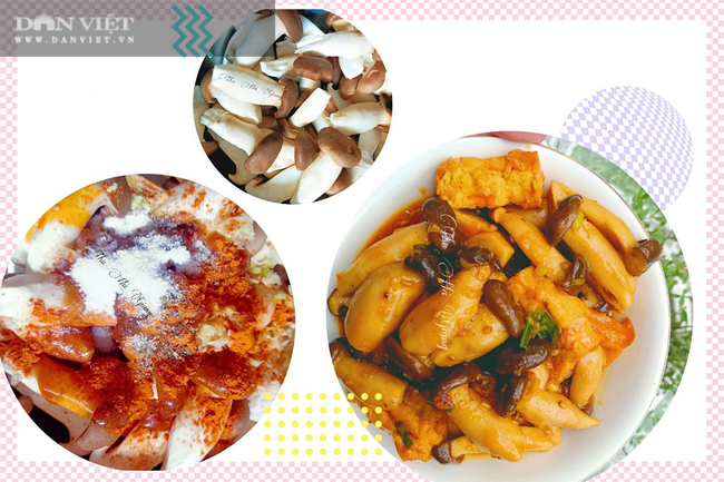 4 bước để làm món nấm đùi gà khìa đậu hũ sả ớt thơm ngon đưa cơm - Ảnh 1.