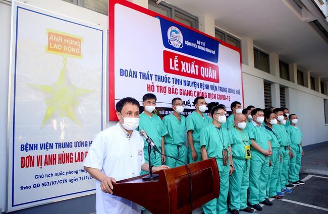 Bệnh viện Trung ương Huế chi viện đoàn thầy thuốc hỗ trợ Bắc Giang chống dịch Covid-19  - Ảnh 1.