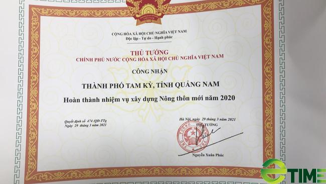 Quảng Nam: Thủ tướng công nhận thành phố Tam Kỳ đạt chuẩn Nông thôn mới - Ảnh 1.
