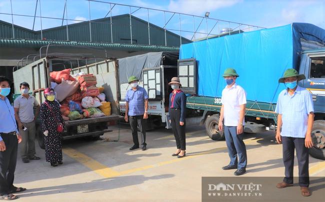 """Hơn 11 tấn nhu yếu phẩm nông dân (Hà Tĩnh) """"tiếp sức"""" khu cách ly - Ảnh 2."""
