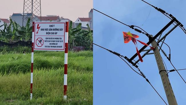 EVN HANOI khuyến cáo người dân không thả diều gần hành lang an toàn lưới điện  - Ảnh 4.